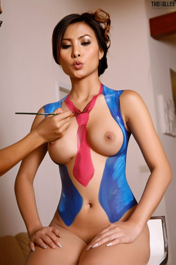 Soccer body painting nude