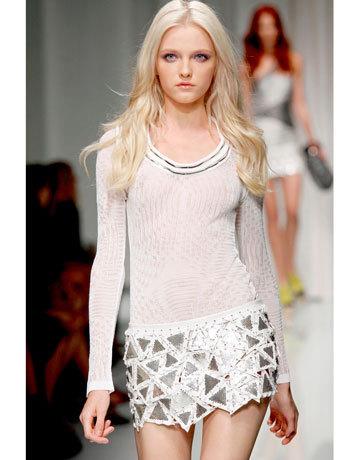 Skinny blonde teen heels