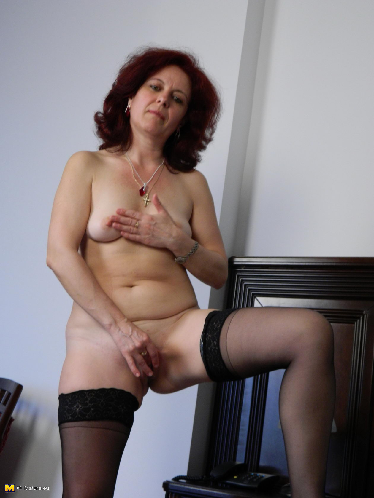 Horny mature naked hairy women