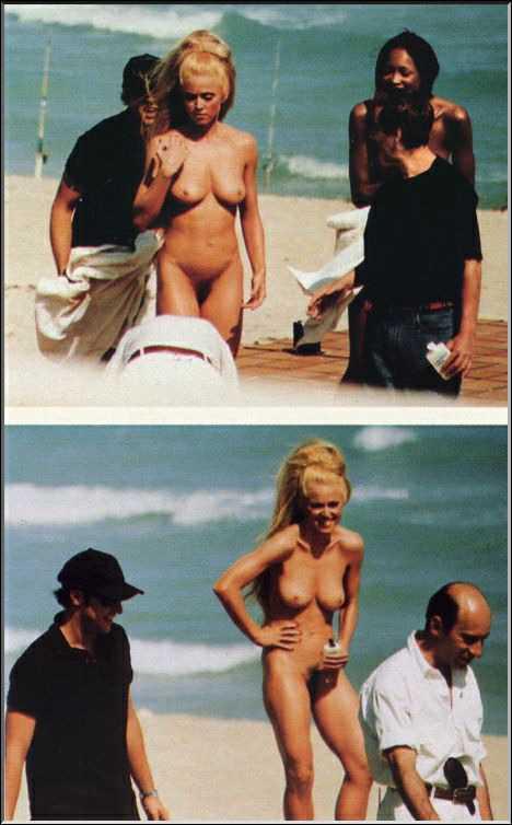 Madonna nude on beach