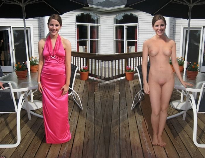 Nude with and without clothes