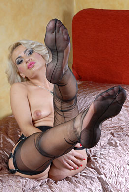 Ff nylon stocking feet