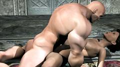 Muscle man fucks woman