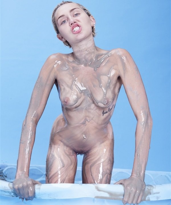 Miley cyrus nude naked topless