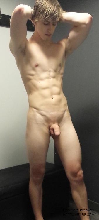Men taking naked selfies