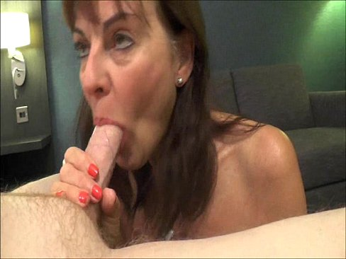 Hot mature milf blowjob swallow