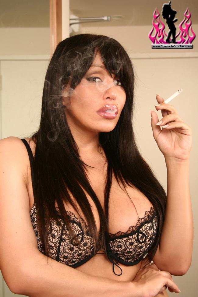 fetish Shemale smoking