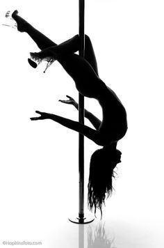 on stripper pole Girl