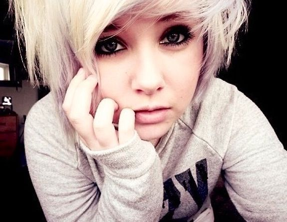 emo teen blonde Crazy