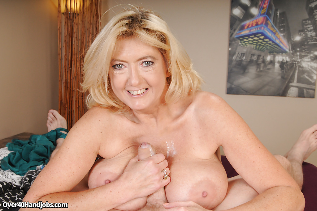 Huge mature blonde big boobs