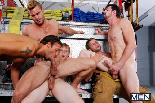 Hairy men gay porn firefighter