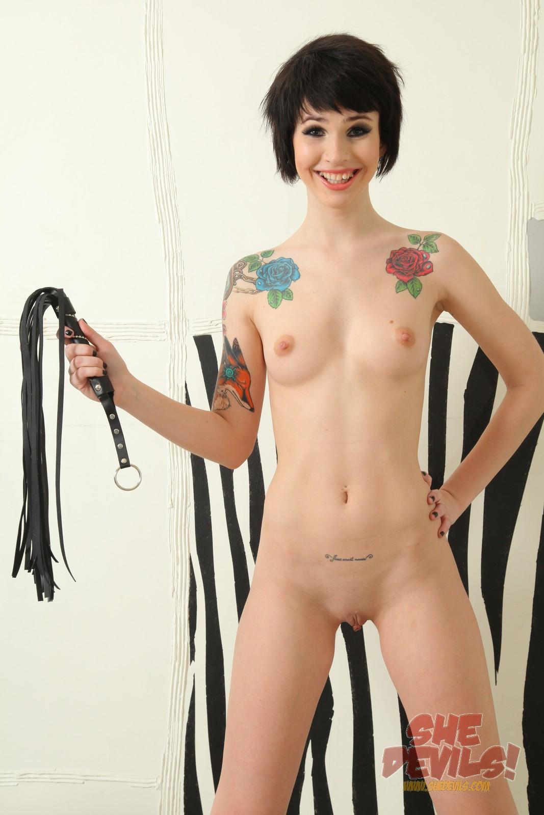 devils nude She emo girl