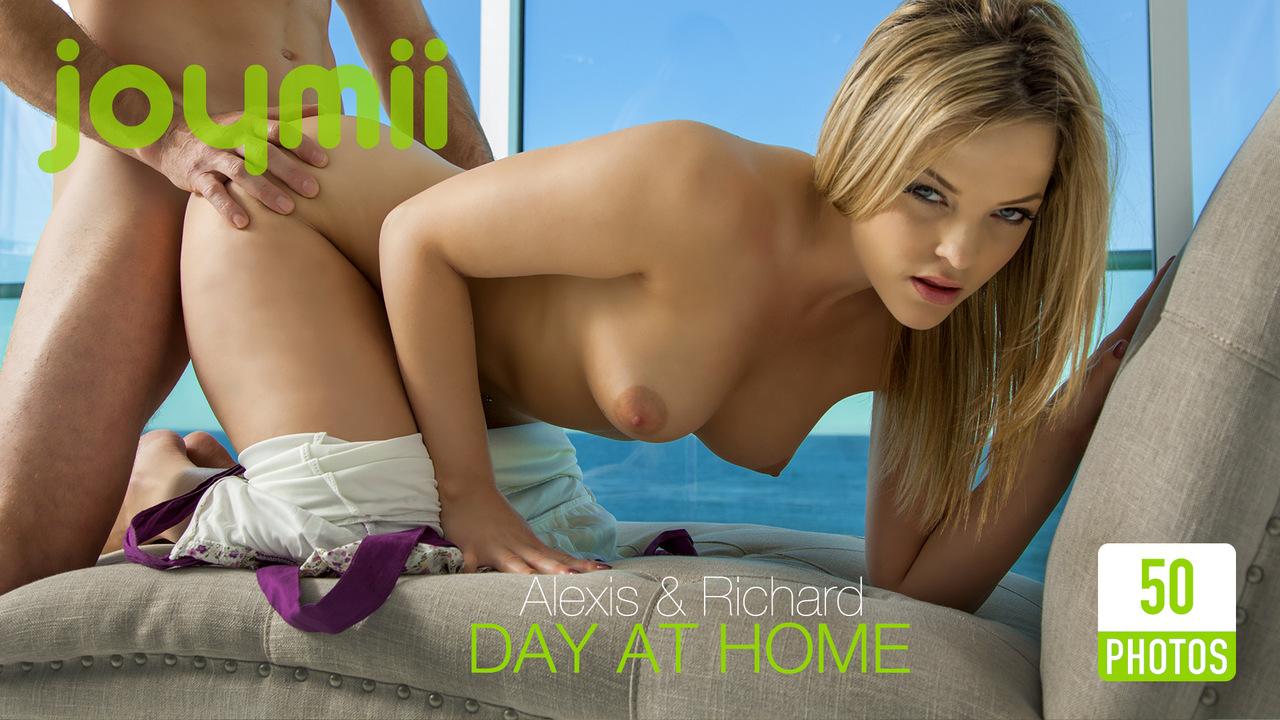Alexis and richard joymii day at home