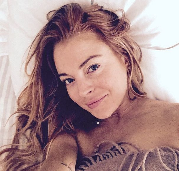 Lohan saggy boobs lindsay