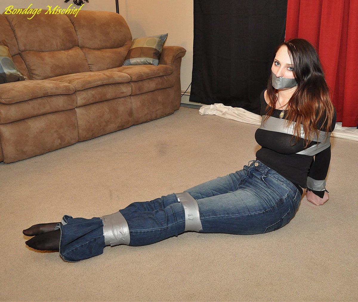 Pantyhose bondage girl next door