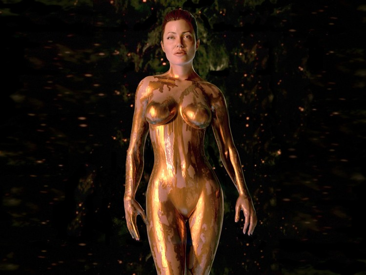 Anjelina jolie naked on beowulf