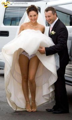 Upskirt brides wedding night