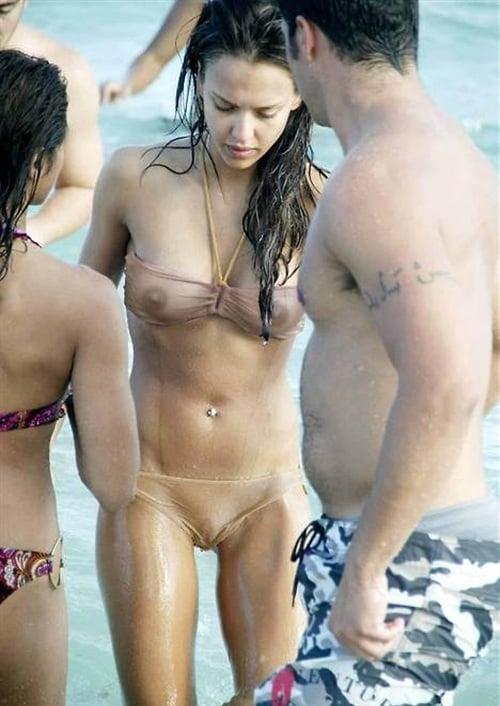 Nude see through bikini
