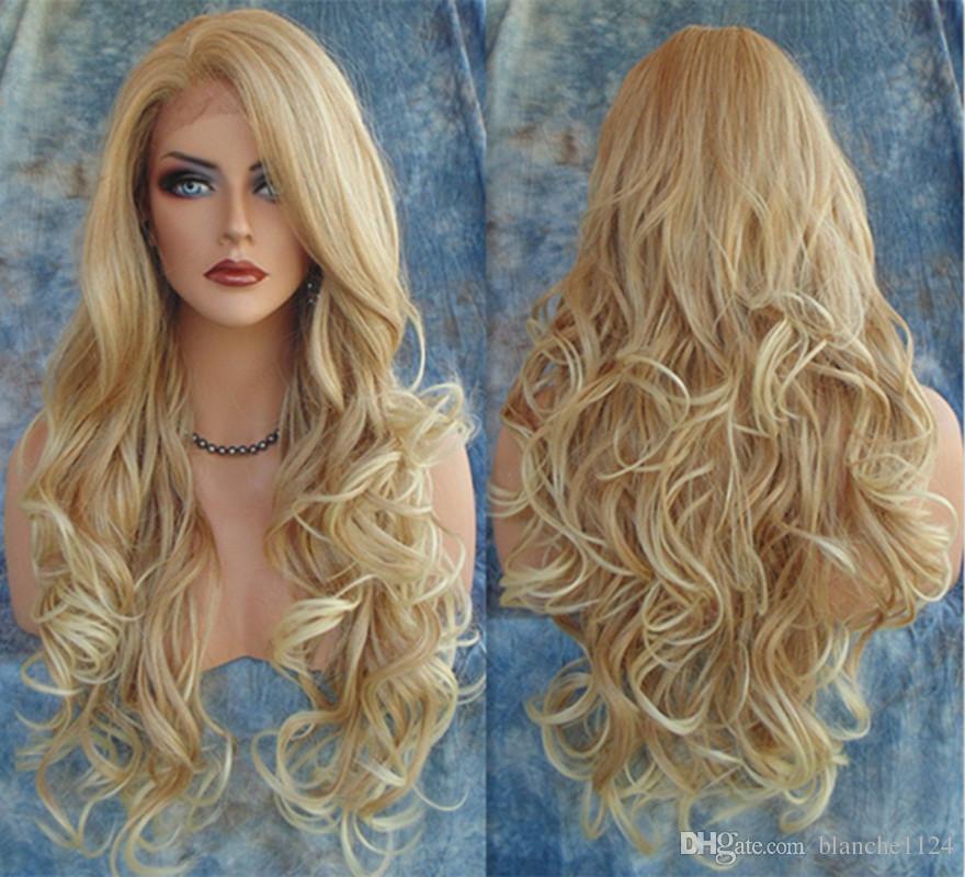 blonde Hot curly