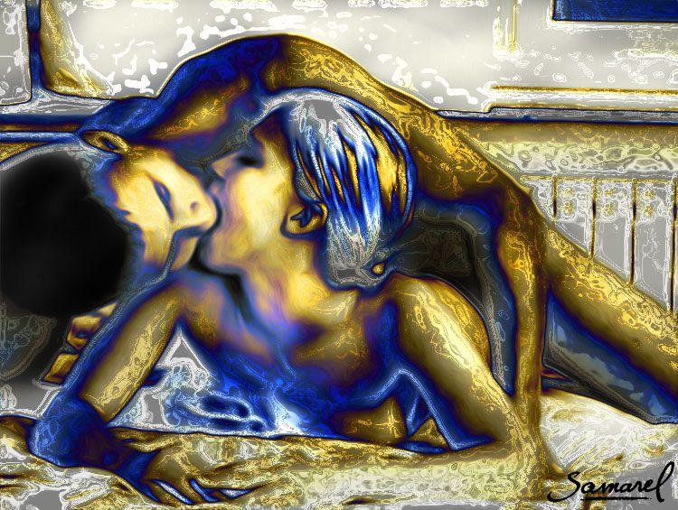 Couples making love art