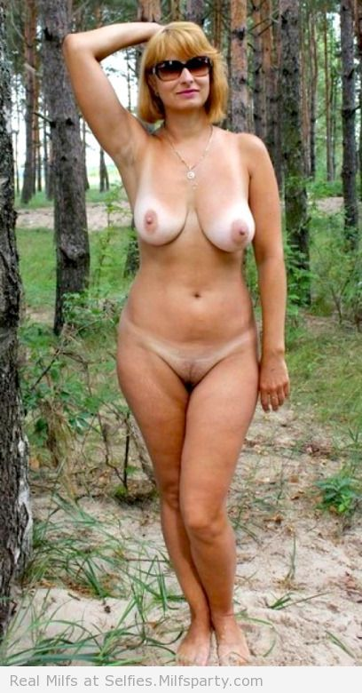 Naked mature women outdoors