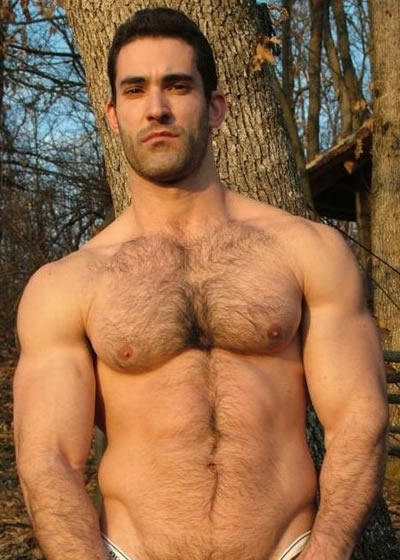 Hot naked hairy muscle men