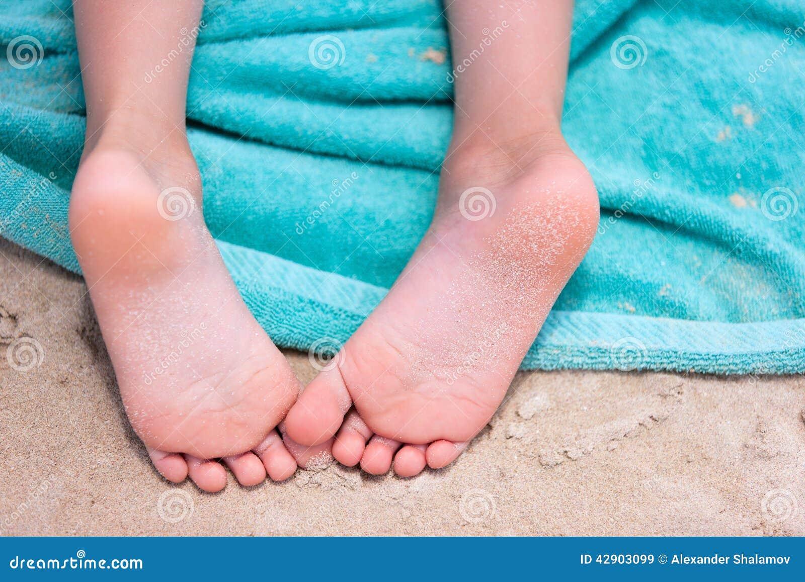 up soles Girl close feet