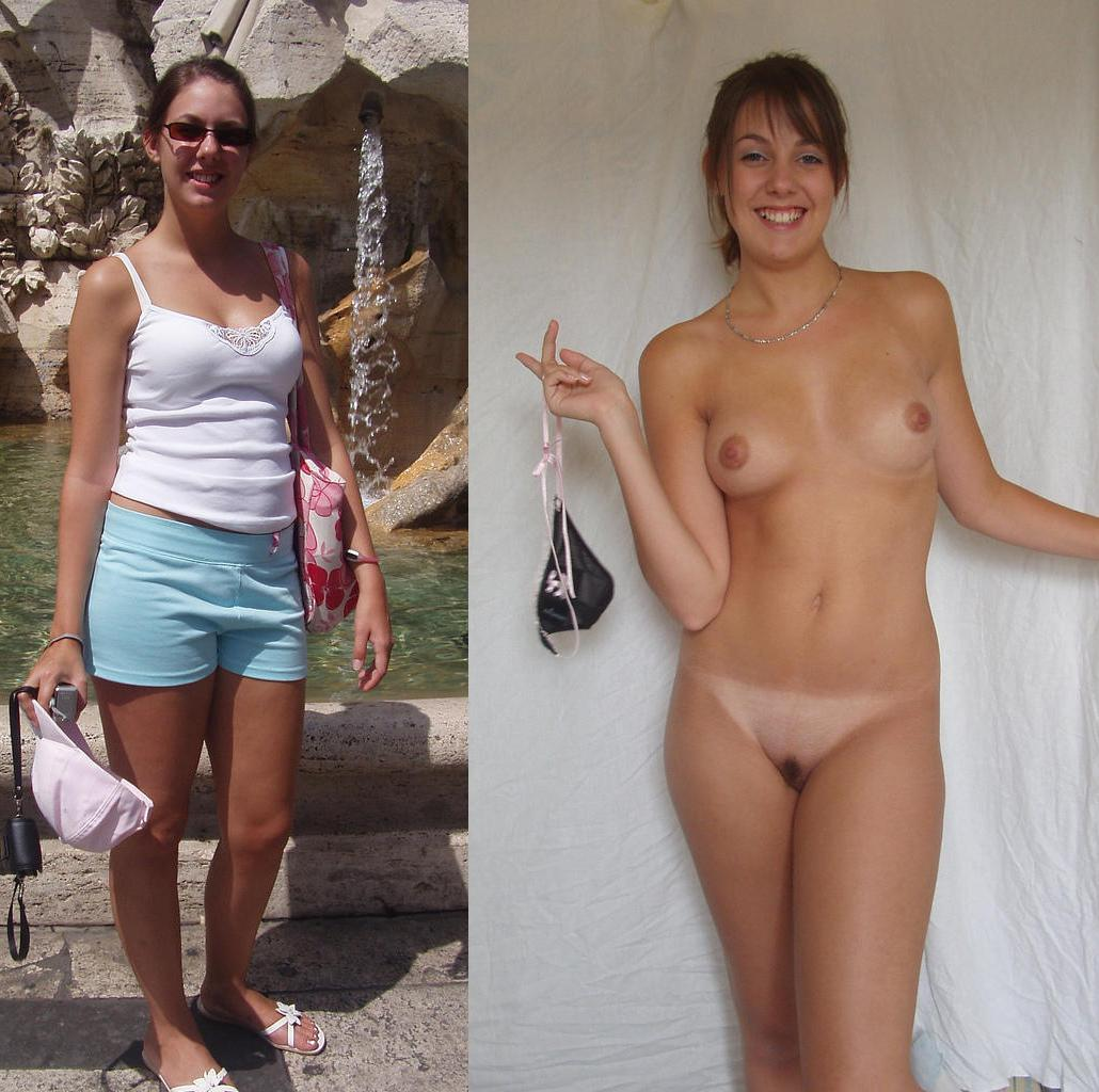 Nude girls before and after