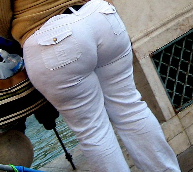 Big ass white pants
