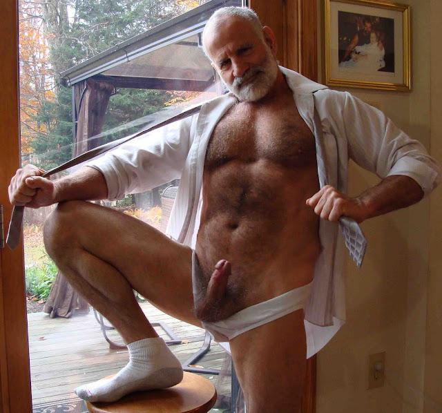 Gay grandpa big cock