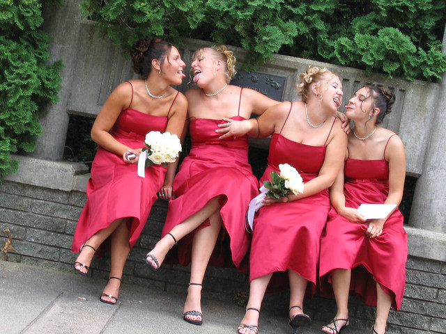 Naughty brides and bridesmaids