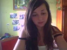 Hairy teen webcam strip
