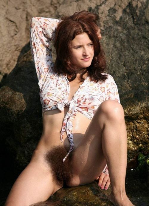 Nude women with hairy bush