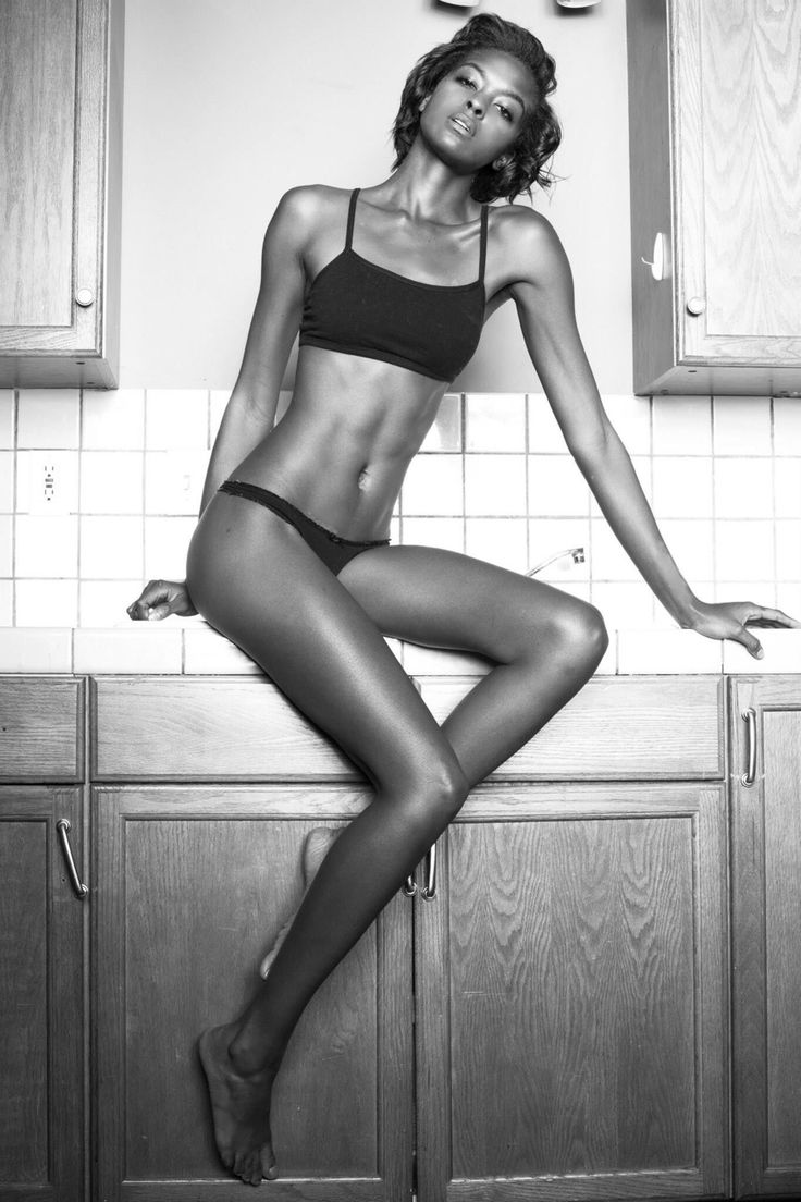 Perfect skinny black girl