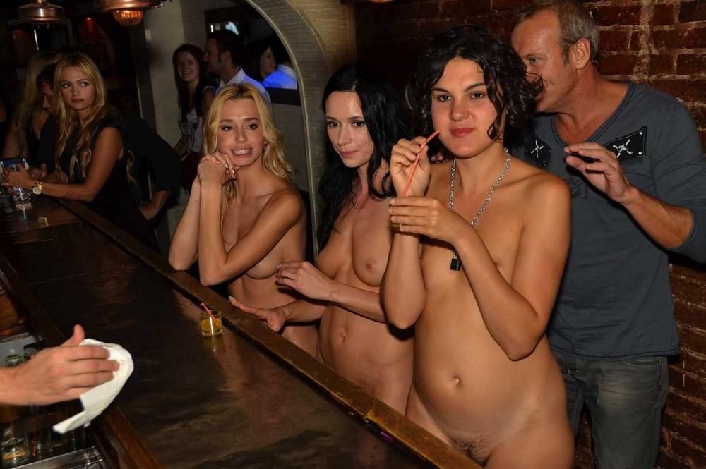 Naked girls at nude bar