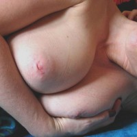 Big puffy tits nipples close up
