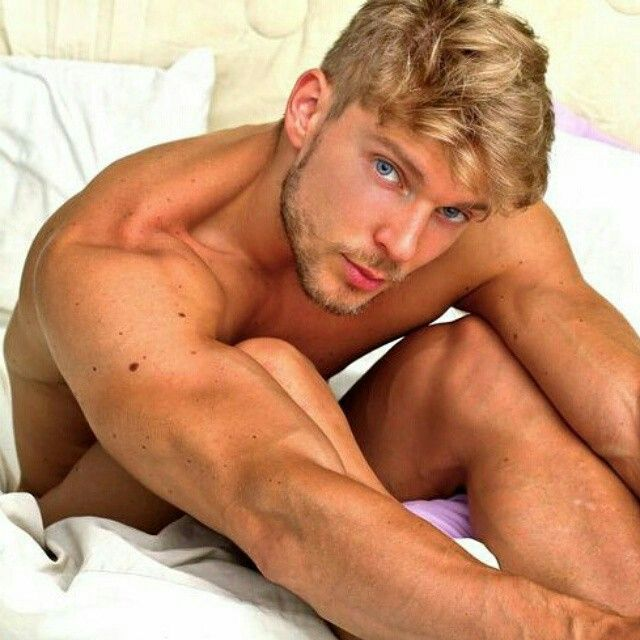Blonde gay hairy muscle men