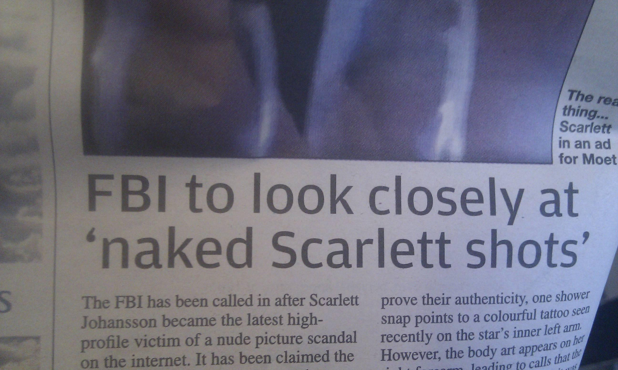 Naked scarlett johansson leaked nudes