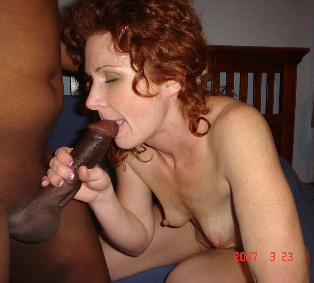 Mature wives sucking black cock