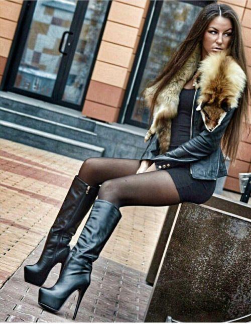 Slut wearing thigh high boots