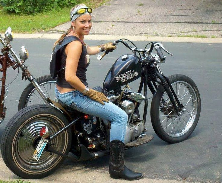 Naked girls riding motorcycles