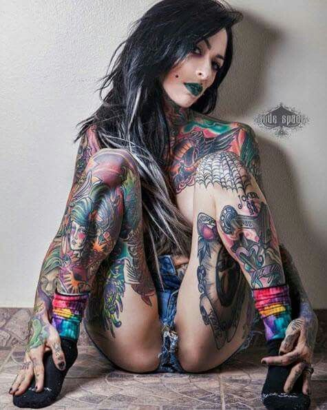 Sexy tattooed tattoo girls