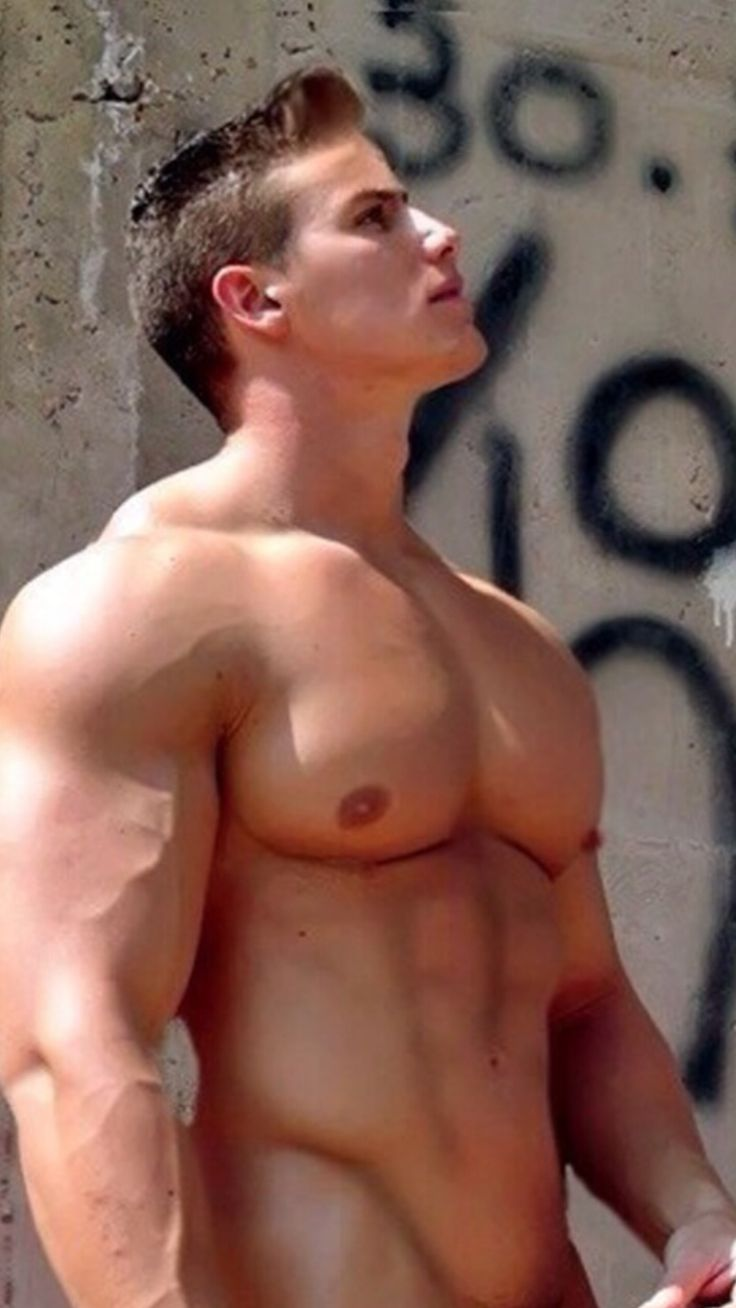 Thick naked muscle boy