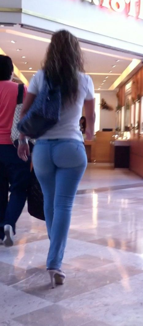 Would girls in tight pants voyeur ass