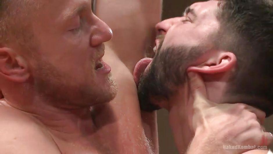Gay men licking armpits