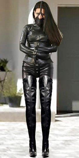 bondage girl Leather