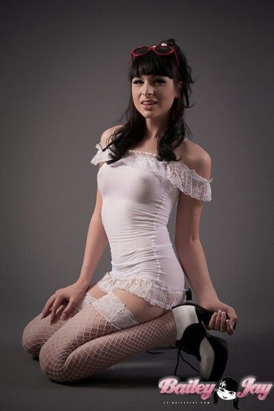 Bailey jay shemale stockings