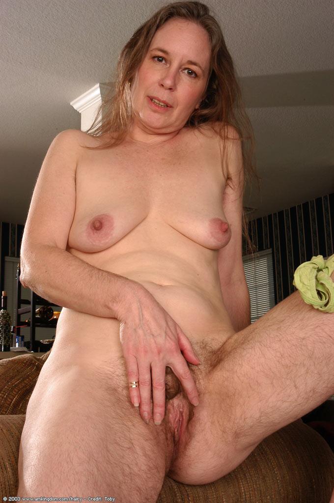 Very hairy mature nude