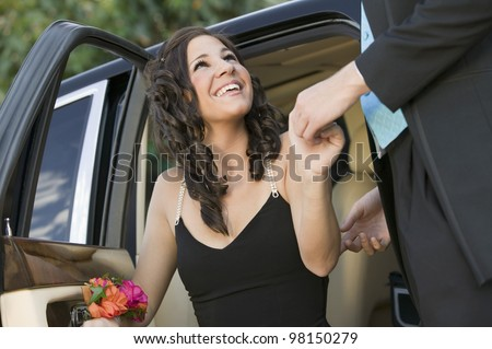 Girl in limo giving head