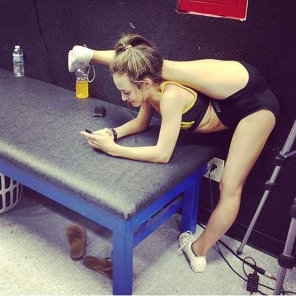 Really flexible gymnast